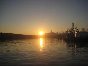 Sunrise at Hyde St. Pier